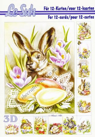 Easter Animals A5 3D Decoupage Book from Le Suh